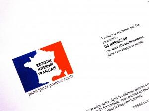 Le Registre Internet Français a tout l'air d'une escroquerie...